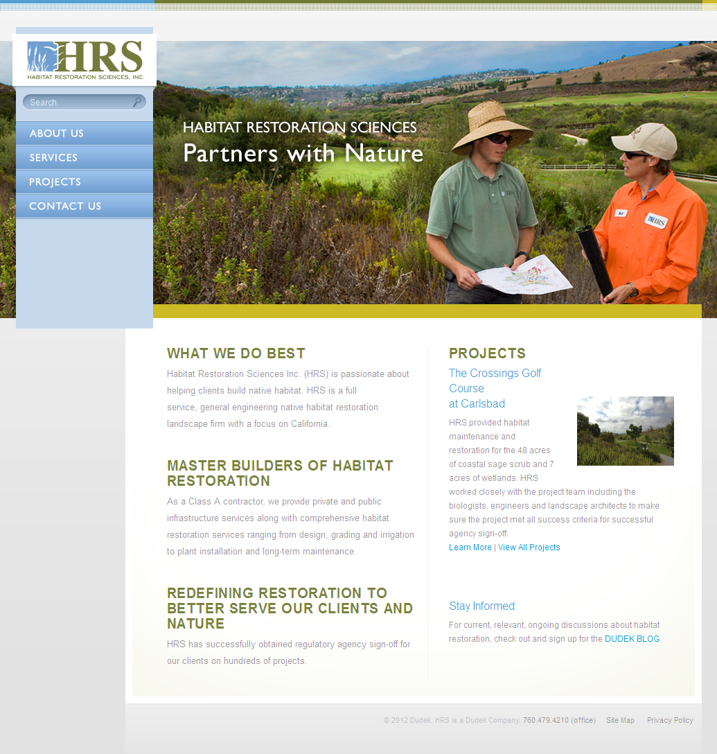 New HRS Homepage