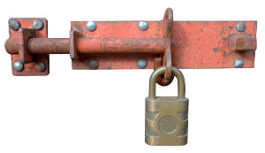 pad lock representing added site security