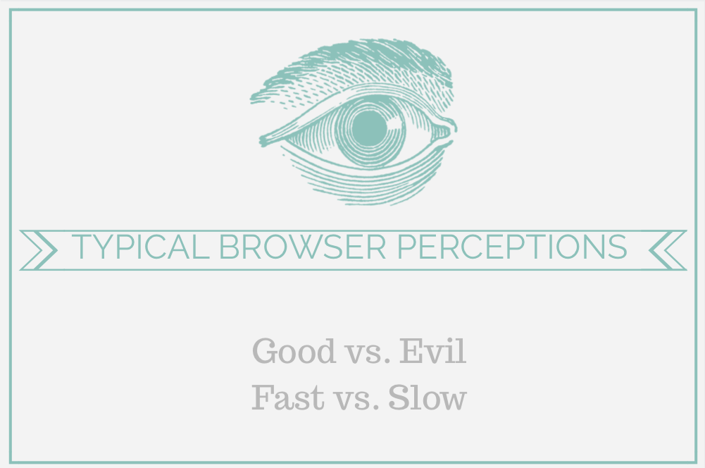 browser perceptions good vs. evil, fast vs. slow