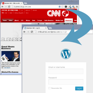 CNN Blogs appear to use default WordPress admin page