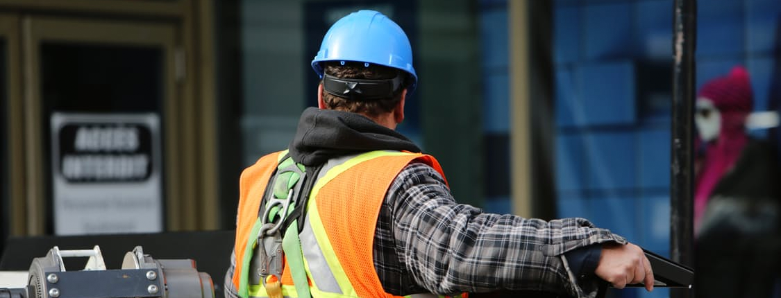construction worker for contractor website redesign