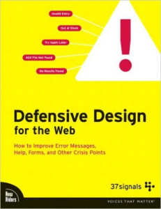 cover for defensive design for the web book