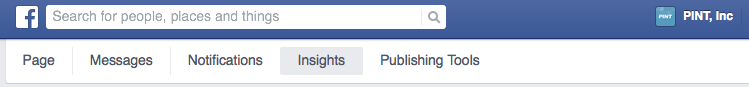 facebook analytics navigation