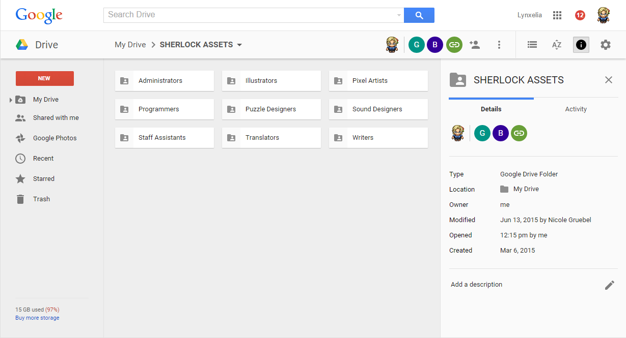googleapps screenshot
