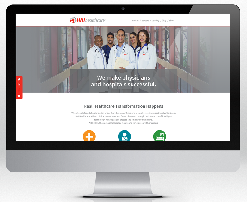 hni healthcare website redesign